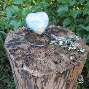 Erinnerungsurne marmoriertes Herz
