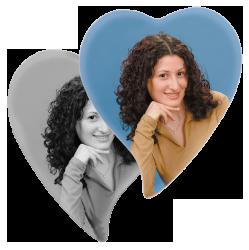 Kermikbild Herz